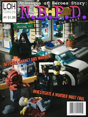 A League of Heroes Story: N.B.P.D. - The Beat (Issue #1) (jgg3210) Tags: lego leagueofheroes loh nbpd new brickton police department beat officer jack garnet ellis warren rock lobster gothic ghoul city car comic comicbook cover heroes supervillain murder mystery cops