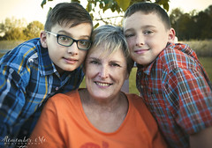 Togetherness (taylormackenzie) Tags: trio grandmother grandchildren grandson boys brother kids children child little glasses plaid shirts orange fall autumn family photos remember me photography taylor dixon smiles happy togetherness together outside rocking chair portraits faces north carolina nikon d3000