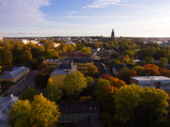 City of Urban Nature (pvanhala) Tags: aerial dji phantom turku autumn fall city colors trees sky cathedral