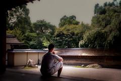 In Meditation at Ryan-ji (Kyoto, Japan. Gustavo Thomas  2016) (Gustavo Thomas) Tags: meditacin meditation temple zen japan kioto kyoto japn man sand arena calm philosophy travel ryanji