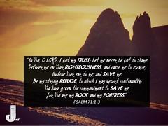 Psalm 71:1-3 (pastorjoshmw) Tags: scripture calltoworship bible psalm71 psalm7113