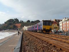 150925 Dawlish (1) (Marky7890) Tags: gwr 150925 class150 sprinter 2f21 dawlish railway station devon train