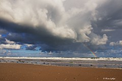Changeable (Ali Ly) Tags: autumn beach clouds day norfolk outdoor rainbow rspb sand sea sky surf titchwell weather