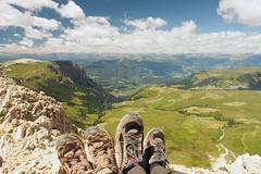 Groer Rosszahn - Gipfelgrat - Maximiliansteig (s_wh) Tags: seiser alm arco gardasee dolomiten maximiliansteig plattkofel cirspitze pisciadu colodri sentiereo cima capi sarca tierser alpl rosszhne singerhof seis laghel