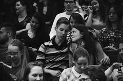 Loving you (Catherine Popova) Tags: love people young gaze smile happy happiness shy blackandwhite pentax pentaxk50