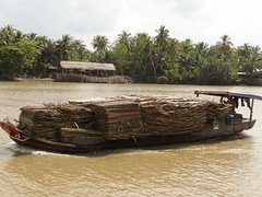 IMG_3336 (program monkey) Tags: vietnam mekong river delta cargo boat ben tre tra vinh palm tree loaded sugar cane