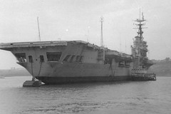 Possibly HMS Warrior (R31) (goweravig) Tags: royalnavy rivertamar hamoaze ship shipping plymouth devon england uk r68 hmswarrior