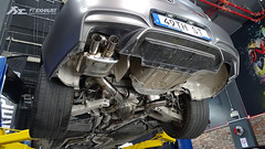 Installation of BMW F12 M6 with Fi Exhaust ! (Fi Exhaust) Tags: bmw f12 13 f06 07 m6 fiexhaust frequency intelligent exhaust system diamond black quad tips qatar