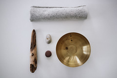 My favourite materials (Ktinka) Tags: brass cashmere wood driftwood stones