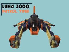 Luna 3000 Patrol Viper (Harding Co.) Tags: lego space scifi ship spaceship flying vehicle viper vv novvember wings cockpit whoosh swoosh girl minifigure pilot future patrol iulia cat luna 3000 girlfriend