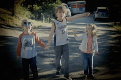 the three seekers (Pejasar) Tags: children walk holdinghands direction colorado estespark vacation family grandkids travel cousins boys girl hike sunglasses