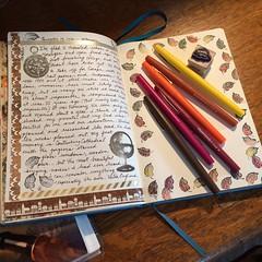 Travel (Kathryn Zbrzezny) Tags: journal journalwriting journaling write writing writer leuchtturm1917 visualjournal visualdiary handwriting handwritten traveljournal inkstamping