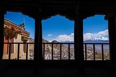 Leh (Ash and Debris) Tags: view landscape window leh himalaya himalayas cityscape windows clouds columns mountans silhouette ladakh india sky dark city mountain