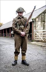 Durham Light Infrantry at Home Farm, Beamish (Johne_uk) Tags: beamishmuseum worldwar2 britisharmy leeenfield 303 costume homefarm homeguard sergeant fuji xt2 1655