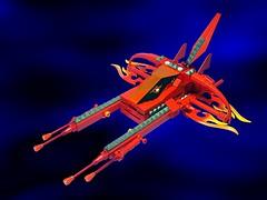 Zorg Vic Viper (Crimso Giger) Tags: lego moc starfighter spacefighter fighter ship zorgempire zorg novvember novvember2016 viper vicviper vv