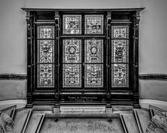 Window at top of stairs (adrian.sadlier) Tags: window stairs stairwell nationallibraryofireland library dublin ireland mono
