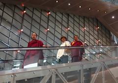Monks on escalaotor (Sallyrango) Tags: shanghai china buddhistmonk shoppingcentre escalator monks monksonescalator