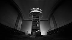 L o o k o u t (Jin Mikami) Tags: bw light architecture japan shadow black white monochrome stairs bnw shade fineart