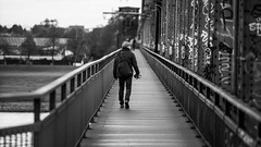 The Hunter (Bokehsüchtig (ON/OFF)) Tags: cologne street monochrome blackwhite blackandwhite people photographer südbrücke köln moving motion sonya7 sonya7m2 canonef7020028lisiiusm streetphotography