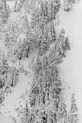 South Side of Lennox Mountain above Lake Kanim (Scott_Nelson) Tags: baring washington unitedstates us cascades cascadesfromtheair northcascadesfromtheair monroe airphotography blackandwhite mountians