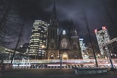 Ominous blessing (JayCWSee) Tags: gloomy dark spooky night church wide hdr canada tokina nikon vancity vancouver
