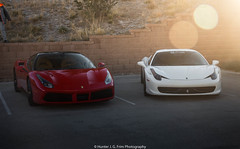 Turbo or NA? (Hunter J. G. Frim Photography) Tags: supercar colorado ferrari 488 gtb turbo red rosso corsa italian v8 ferrari488 ferrari488gtb rossocorsa 458 italia coupe white ferrari458 ferrari458italia bianco