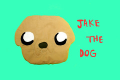 jake the dog <3 (Papuzzini Smellow) Tags: dog baby art love dogs ecology bag toy toys funny jake time handmade milano crafts cage case adventure softies gifts fantasy gift present peluche peluches pupazzi reutilization smellow papuzzini
