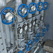 <p>Valves regulate water flow into FLIP's lower tanks to start flipping.</p>