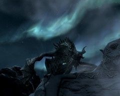 2012-04-19_00011 - Paarthurnax (tend2it) Tags: world game beautiful fire pc screenshot dragon view shot character xbox battle v rpg elder throat breathing scrolls ps3 skyrim tesv