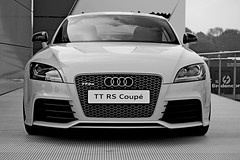 Audi TT RS Coupe (B/W) (DaveJC90) Tags: camera blackandwhite bw white black detail slr london cars sports car race speed lens kent movement nikon track angle zoom action indy move racing sharp vehicles event crop mercedesbenz bmw vehicle driver nights motor m3 1001nights audi 70300mm dtm circuit a5 coupe drivers motorsport 1001 brandshatch 3series cclass livery croped sharpness d40 sponser rs5 sponsership deutschetourenwagenmasters