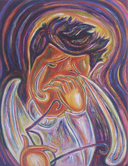 Man Crying (NicolaAbstract) Tags: abstract man art painting tears emotion crying oils nicolawills