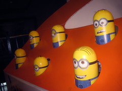 Despicable Me 2 Whack A Mole Minion Game Standee  0202 (Brechtbug) Tags: street new york city nyc 2 two game me yellow computer movie poster theater with theatre cartoon billboard lobby animation critters amc mole 34th whack gru sequel despicable minion standee henchmen standees 2013 a 05202013