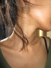 ( ) Tags: girl shirt neck asian dress earring collarbone collarbones