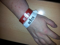 Mile End leisure wrist bands. One for 'young at heart' the over 50's and the other for use of the sauna. Cost me 2.05 althgether !! (Carol B London) Tags: me pool swim one for other arm over cost bands use leisure 50s wrist mileend sauna towerhamlets gll youngatheart 205 mileendleisure althgether