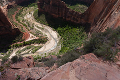 Don't Fall (no3rdw) Tags: park river outdoors utah dangerous rocky hike landing virgin trail national angels zion steep