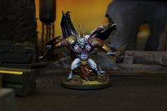 Chaos Daemons, Daemon Prince (Blue Table Painting) Tags: chaos 40k warhammer daemons