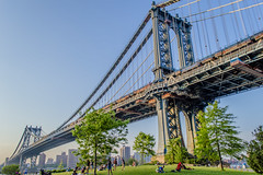 Manhattan Bridge Base (robertocordon) Tags: park bridge brooklyn manhattan dumbo base