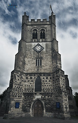 Waltham Abbey Church (jpearce2307) Tags: clock church abbey clouds hertfordshire walthamabbey