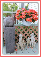 Keep A Little Sunshine In Your Heart (bigbrowneyez) Tags: flowers wet water fountain beautiful dof relaxing statues fresh trellis deck precious lovely charming mygarden fontana delightful bello mydeck acua miogiardino keepalittlesunshineinyourheart