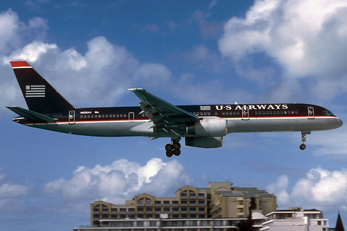 US Airways B757-225 N606AU SXM 04/01/2004