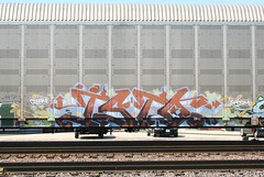 Isto (quiet-silence) Tags: railroad art train graffiti railcar graff freight isto tci akb autorack fr8