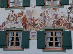 Mittenwald window decoration (philip_wgtn_nz) Tags: germany painting bavaria ornament fresco mittenwald