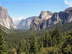 Yosemite Valley late afternoon (kenjet) Tags: california park trees mountains nature water beauty rock waterfall nationalpark falls valley yosemite halfdome yosemitenationalpark bridalveil elcapitan elcap bridalveilfall