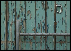 blue door (lowooley.) Tags: blue peeling paint painted northumberland hexham northernengland
