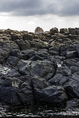 Black Basalt Rock (olvwu | ) Tags: sea cloud water rock stone landscape seaside surf tide taiwan wave cave seashore penghu  basalt touristspot    magong jungpangwu oliverwu oliverjpwu      olvwu magongcity  penghucounty  jungpang fenggueicave fengguei