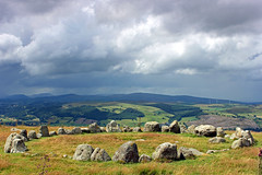 Moel Ty Uchaf Cairn Circle (John Ibbotson (catching up!)) Tags: stone wales circle day cloudy cymru ring burial prehistoric kerb cairn bronzeage stonecircle denbighshire moeltyuchaf