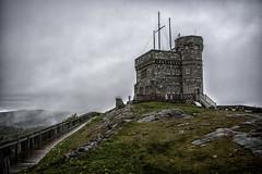 Cabot Tower on Signal Hill in St. John's Newfoundland, Canada (angie_1964) Tags: cloud canada rain fog newfoundland dark evening stjohns explore signalhill cabottower nikond800e