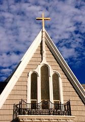 church top - topaz (henulyphoto) Tags: cloud cross god prayer jesus stainedglass bible priest cloudysky