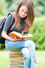 young student girl sitting on pile of books (Konstantin Yolshin) Tags: park blue school summer portrait people woman white cute green college nature girl beautiful beauty smile smart smiling female youth happy person reading book spring student education university pretty sitting outdoor background joy young lifestyle happiness read study teen pile backpack attractive learning teenager casual cheerful studying learn 20s caucasian