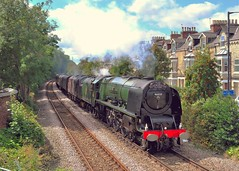 From Another Angle (jep2510) Tags: york uk summer england sun green train flyer princess yorkshire north engine sunny august class steam crewe scarborough locomotive railtour sutherland 16th excursion coronation duchess bootham 6233 2013 46233 1z80lms
